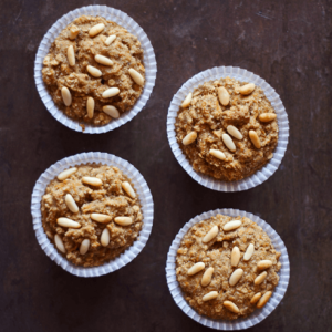 how to make vegan carrot muffin with pine nuts