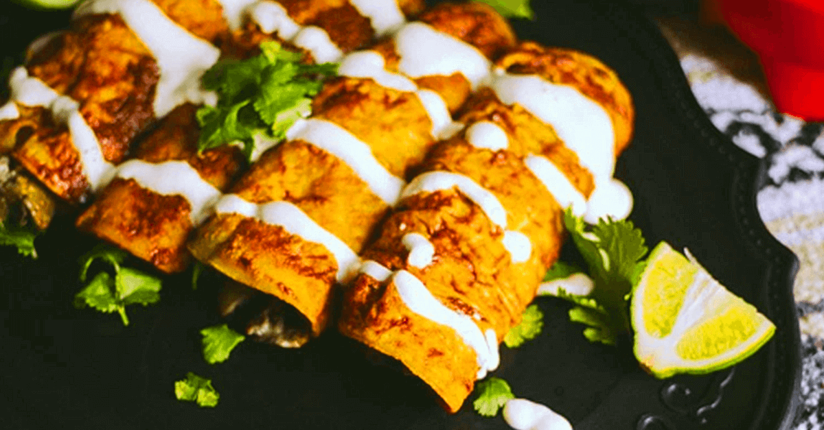 how to make vegan enchiladas recipe - Vegan Enchiladas And Creamy Hot Mushroom Sauce