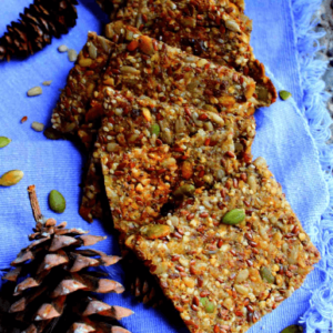 how to make vegan flax crackers