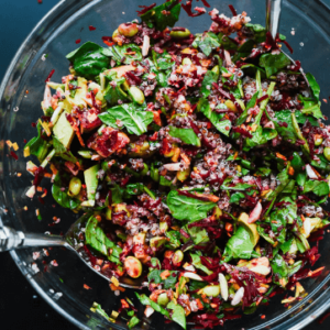 how to make vegan raw beet salad