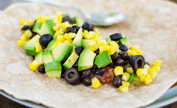 vegan black bean wrap plant based easy healthy diet
