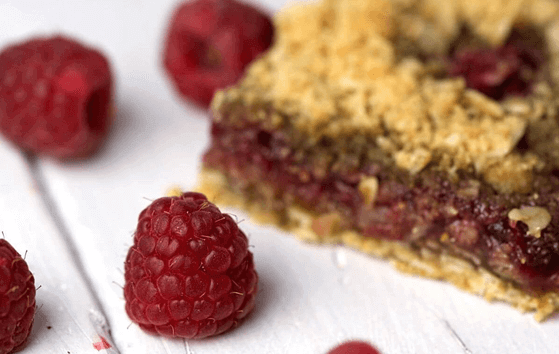 vegan raspberry bars healthy easy diet