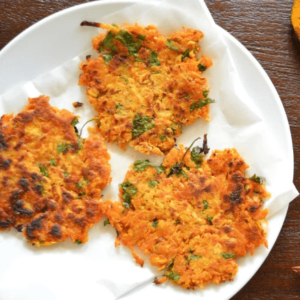 how to make vegan chickpea fritters