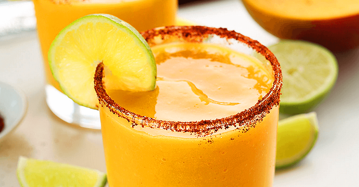 how to make vegan mango margaritas recipe - Vegan Lime Mango Margaritas