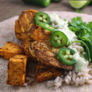 how to make vegan roasted plantain burrito