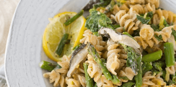 vegan asparagus pasta easy healthy plant based diet - Vegan Lemon Asparagus Pasta