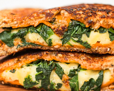 vegan grilled cheese sandwich recipe 370x297 - Vegan Stuffed Grilled Cheese Sandwich