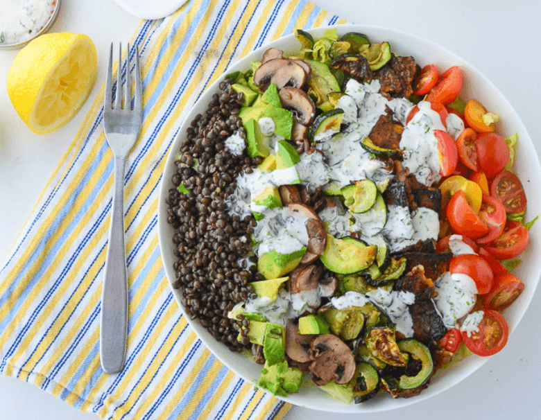 high protein salad recipe - High Protein Salad Recipe (30g of plant protein!)