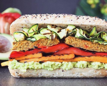 Vegan sandwich recipe lentils 370x297 - Vegan Lentil And Pumpkin Patty Sandwich