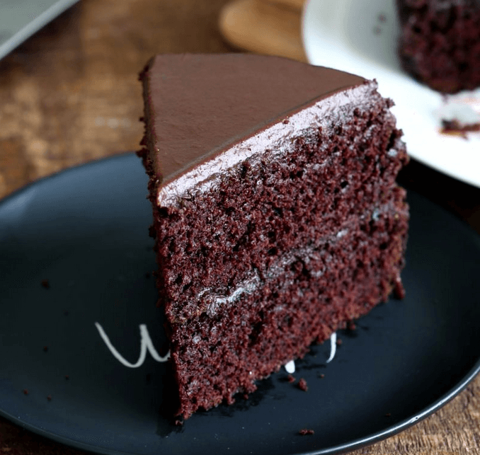 vegan chocolate cake recipe - Vegan Chocolate Peanut Butter Ganache Cake