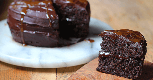 how-to-make-vegan-chocolate-caramel-brownie-cake-recipe