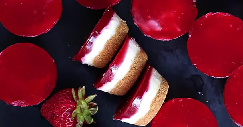 vegan strawberry cheesecake recipe - Vegan Strawberry Cheesecake Bites
