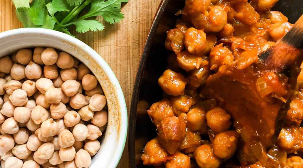 vegan chickpea ketchup curry