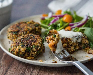 quinoa fritters sweet potato