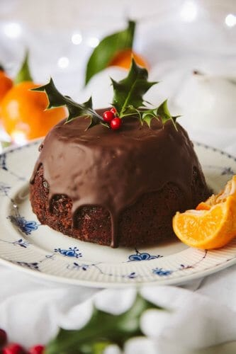 vegan orange christmas cake