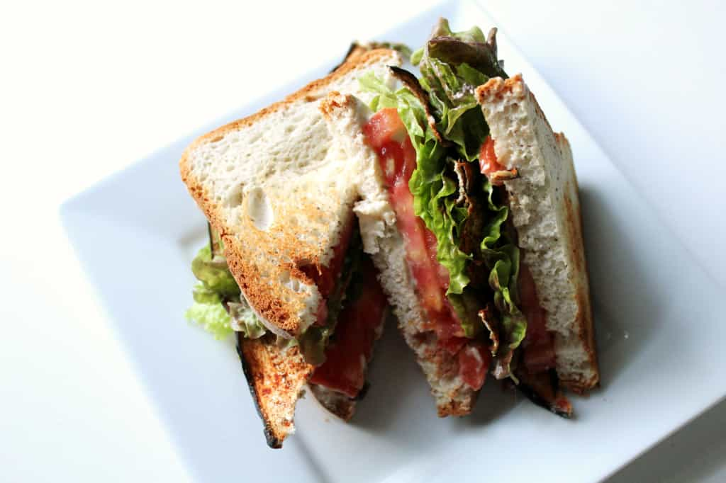 vegan BLT with eggplant